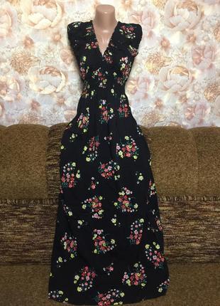 Потрясающее платье  в пол, цветочный принт ,от бренда apricot!...