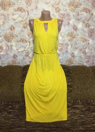 Ярко желтого цвета платье от oasis !