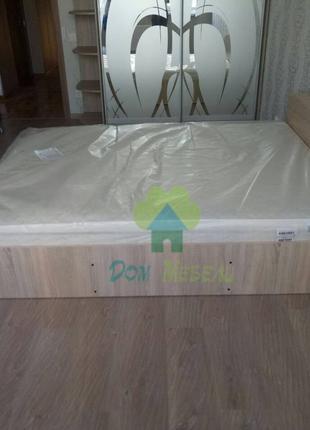 Комплект:Кровать Компанит140/160*200+ортопедический матрас.Эко41