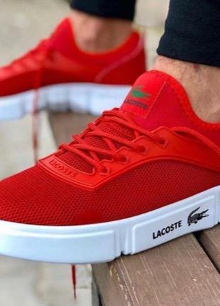 Мужские кроссовки Lacoste красные