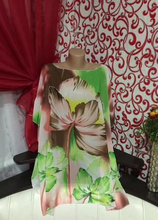 Блуза -туника большого размера ,можно на пляж!актуальный цвето...