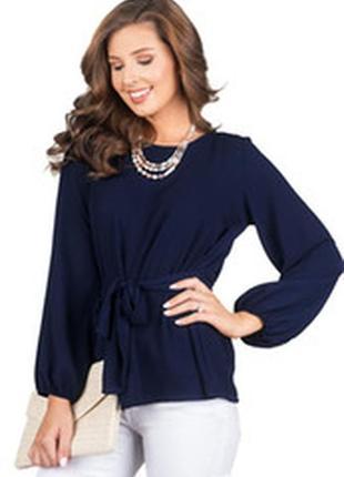 Стильная  блузка синего цвета jasper conran с поясом! 46\48 р