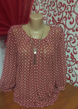 Красивая .воздушная шифоновая блузка .можно беременным!