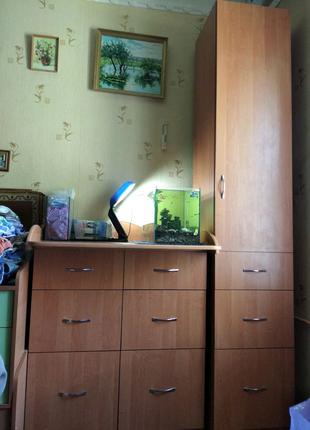Комод пеленальный стол 6 ящ.+шкаф пенал одностворчатый с ящиками