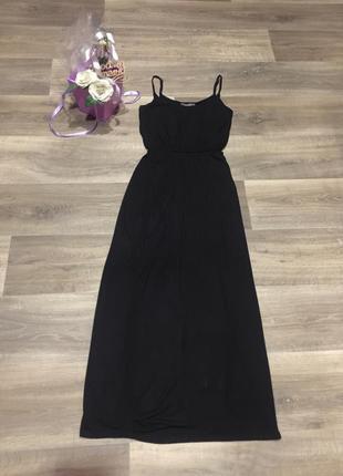 Трикотажное вискозное длинное платье в пол