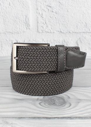 Плетеный ремень резинка alon (оригинал) 4900-114 темно-серый, ...