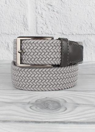 Плетеный ремень резинка alon (оригинал) 4900-115 светло-серый ...