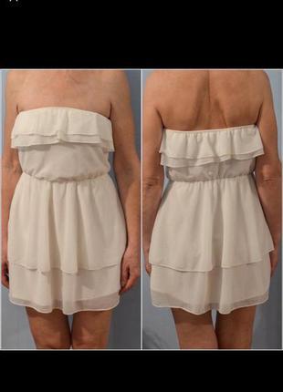 Легкое белое летнее платье шифон