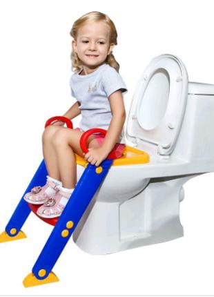 Детское сиденье со ступенькой для унитаза Baby toilet trainer