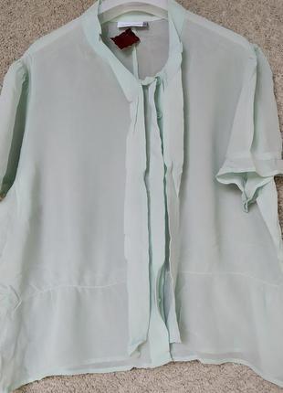Мятная женская блуза из натурального шелка Country Casuals