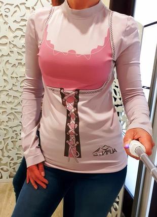 Реглан s/m гольф стильный оригинальный розовый италия термо не...
