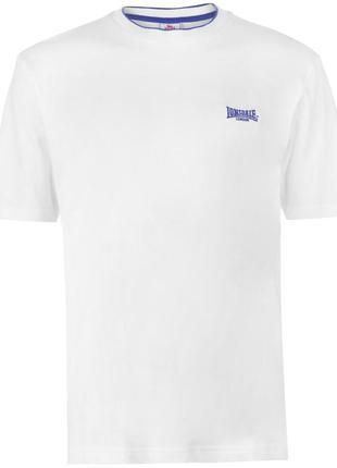 Мужская футболка белая lonsdale в наличии англия оригинал