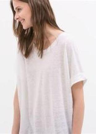 Базовая белоснежная льняная футболка от cotton club