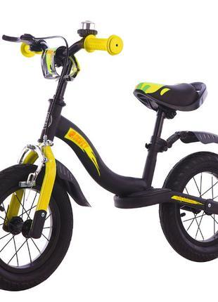 Детский беговел Велобег Rocket 12 дюймов надувные колёса. 3-5 лет