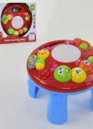 Музыкальный игровой развивающий столик для малыша Гусеница