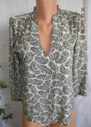Вискозная блуза h&m