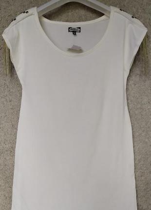 Стильная женская футболка с погонами Bik Bok