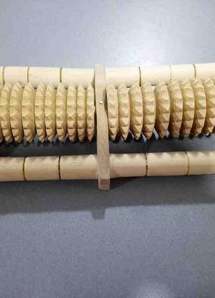 Массажер для ног деревянный 2 валика