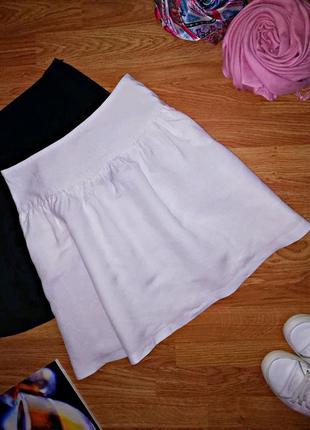 Женская летняя легкая льняная брендовая юбка larry levine - ра...