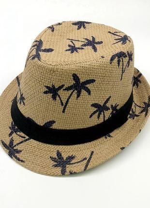 Стильная детская летняя шляпа 13180