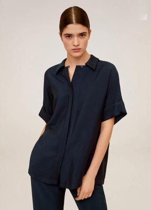 Рубашка/блуза синяя mango