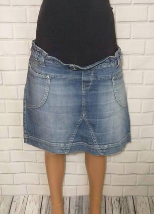 Джинсовая юбка для беременных mamalicious  /арт.06