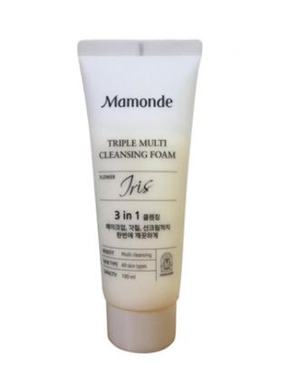 Пенка для умывания Mamonde Triple Multi Cleansing Foam Iris 100мл