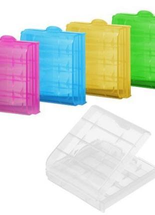 Коробка, бокс, футляр для пальчиковых батареек аа или мини