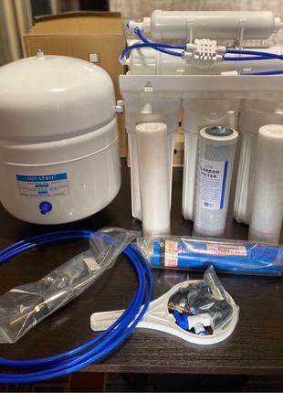 Система обратного осмоса. Фильтр для воды. 5 ступеней очистки.