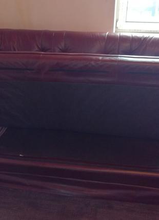 Продам диван кожаный