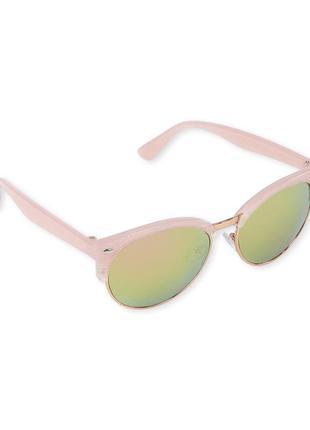 Качественные солнцезащитные очки девочке, зеркальные с блестками