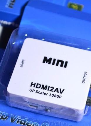 HDMI в AV (rca) конвертер, адаптер, переходник, тюльпан (hdmi2av)