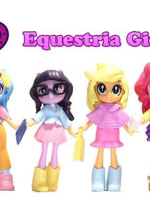 Набор Мой маленький пони: Радуга Дэш, Искорка, Эплджек, Пинки Пай