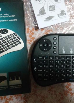 Клавиатура Пульт Smart TV тачпад беспроводная
