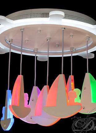 Потолочная LED-люстра с диммером и подсветкой, 95W