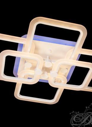 Потолочная LED-люстра с диммером и подсветкой, 130W