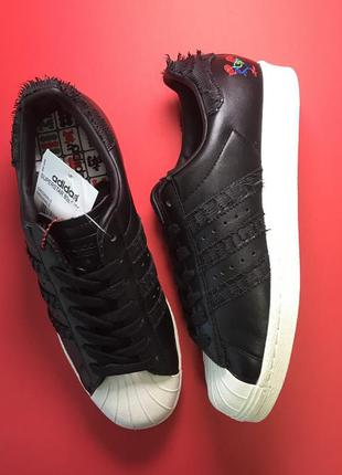 Кроссовки adidas superstar black white черные с белой подошвой...