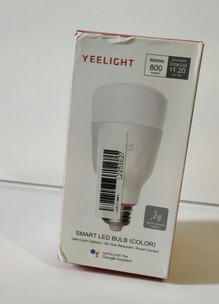 Смарт-лампочка Xiaomi Yeelight LED SmartColorful Wi-Fi Bulb (YLDP