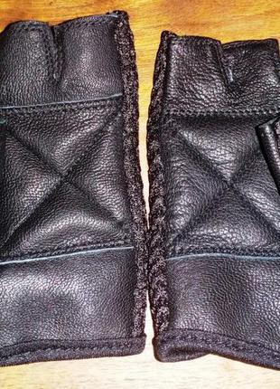 Кожаные перчатки без пальцев activeforce