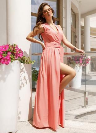 Модное платье-халат с длиной в пол разные цвета