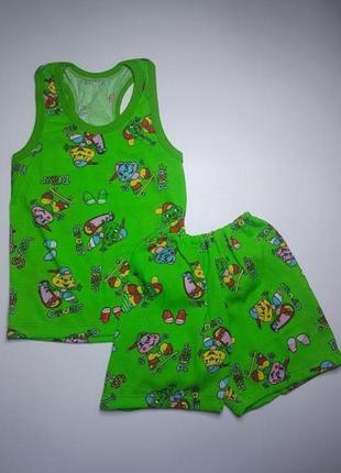 Борцовка и шорты для мальчика летний комплект на 2-3 года