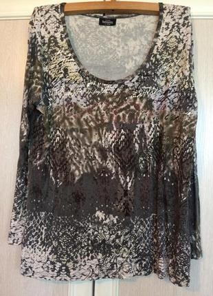 Стильная легкая вискозная блуза/футболка/кофта от benotti пог6...