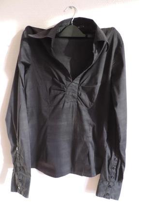 Vero moda черная блуза, рубашка с длинным рукавом, индия