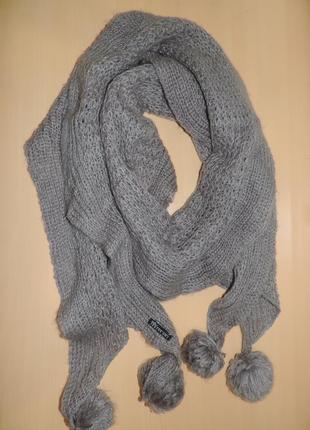 Top secret  шарф женский серый