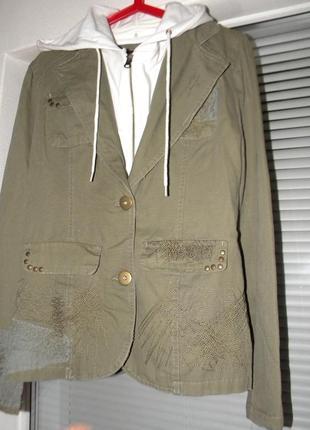 Пиджак, куртка 4wip , 2 в 1, съёмная вставка с капюшоном, l-xl...