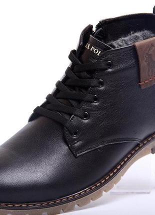 Легкие кожаные классические мужские зимние ботинки наложенный ...