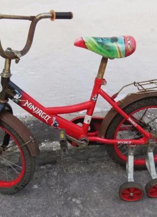 Велосипед для ребенка с боковыми роликами