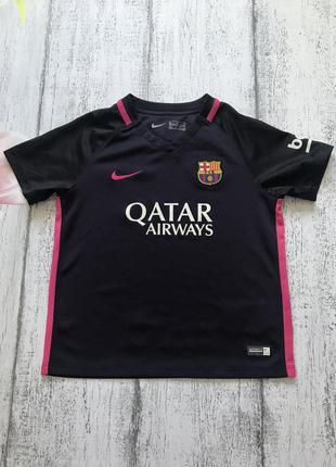 Крутая футболка для спорта футбола barca nike 5-6 лет