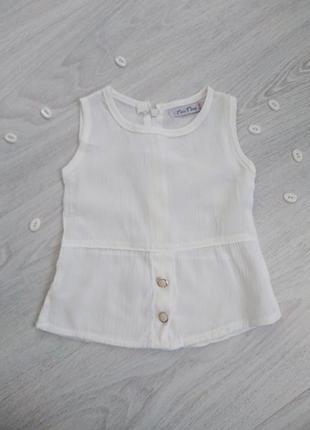 Белая блузка для девочки 2 года