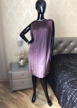 Платье zara, амбре, размер 46, винный цвет